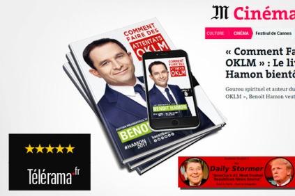 Un faux livre sur Benoît Hamon.